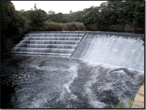 A weir on the River Irwell