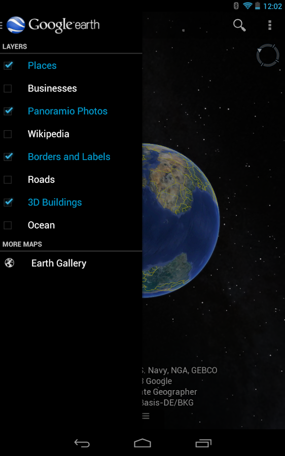 how to install google earth on another drive