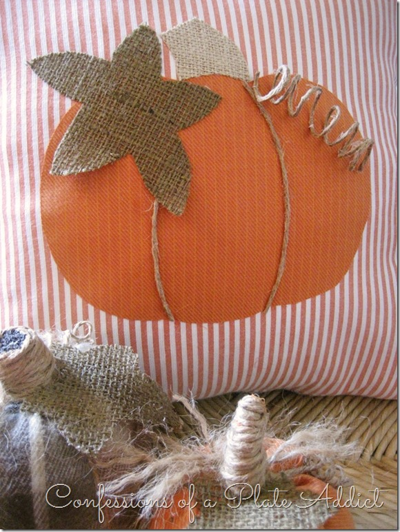 CONFESSIONS OF A PLATE ADDICT More Fun with Shirts...A Pumpkin Pillow