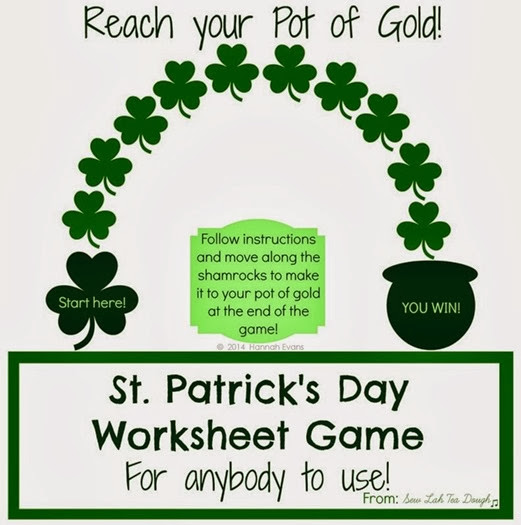 st patricks day game and printable