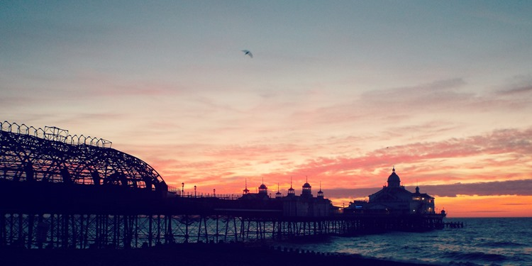 sunrise over eastbourne pier