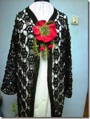 crochet long black vest 2