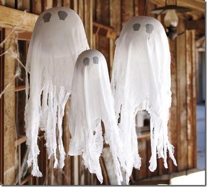 Urban Farmhouse Pottery Barn Halloween Hanging Ghost Tutorial