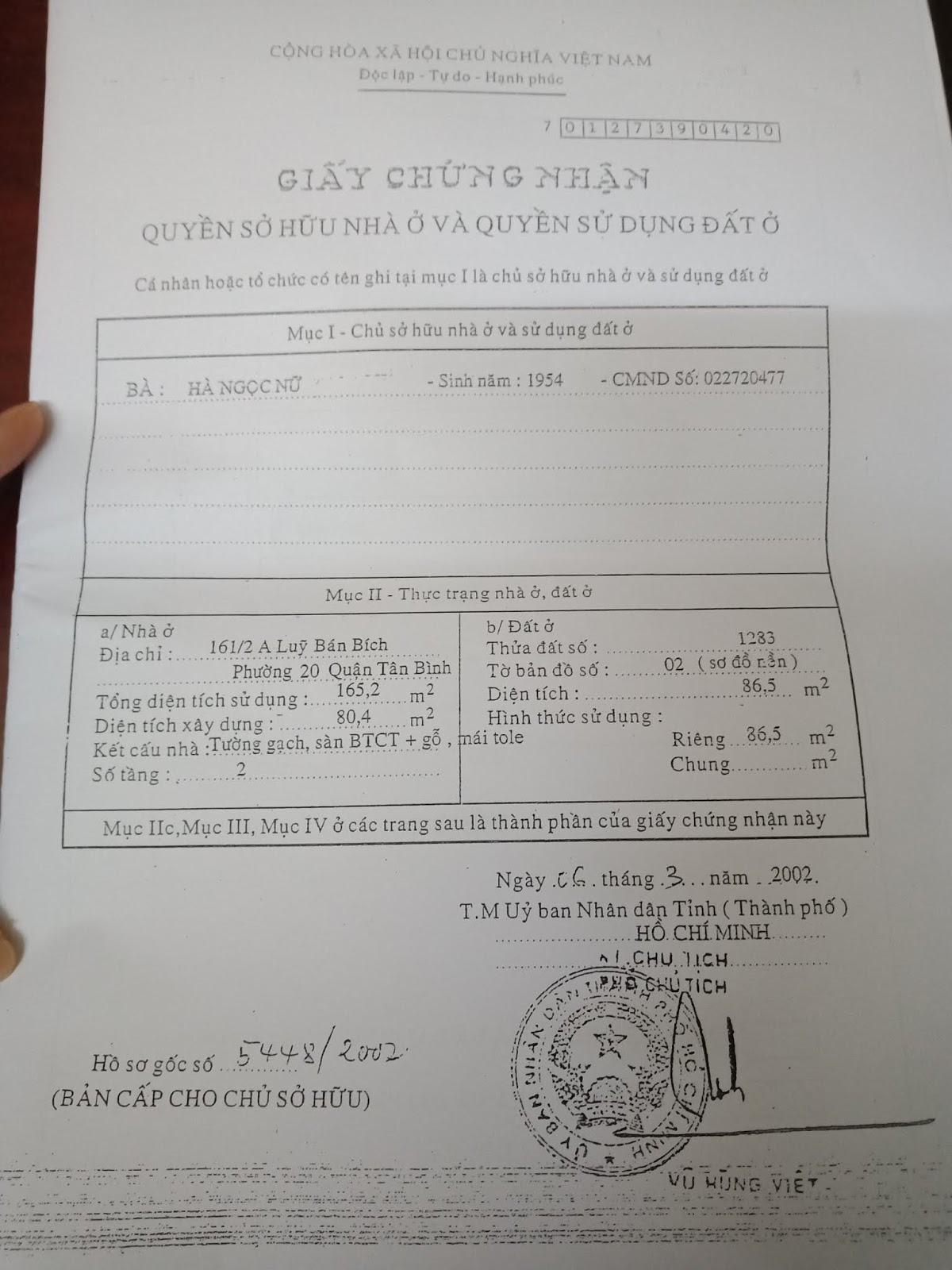 Bán nhà hẻm một sẹc Lũy Bán Bích Quận Tân Phú - 4