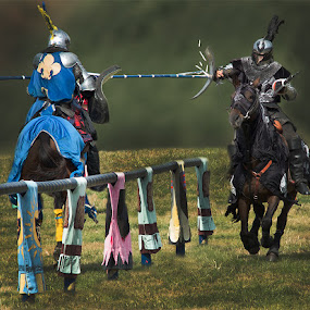 Joust by Lee Sutton - People Musicians & Entertainers ( fight, horse. action, people, knight )