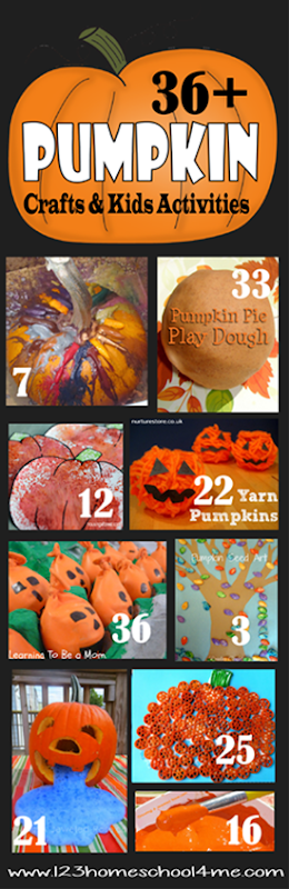36 Pumpkin Crafts and Kids Activities for Fall
