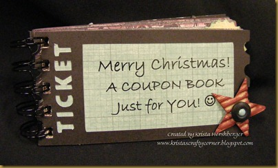 Ticket Coupon book - cover khershberger
