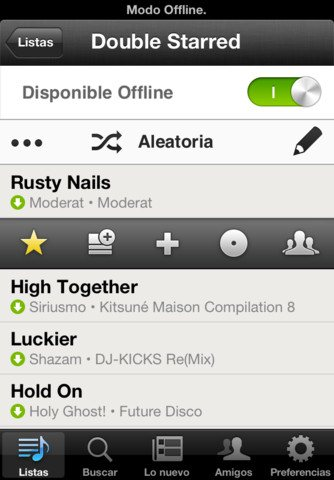 Spotify para ipad, iphone