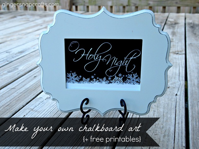 make your own chalkboard art and chalkboard printables