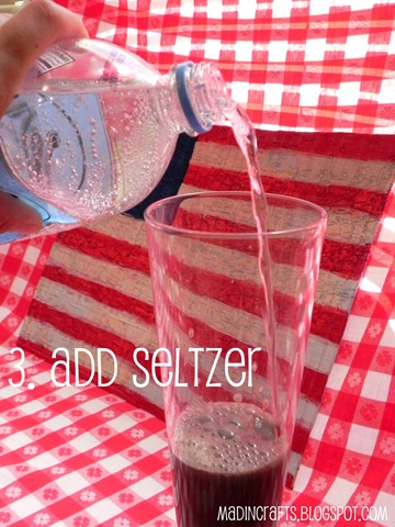 add seltzer water