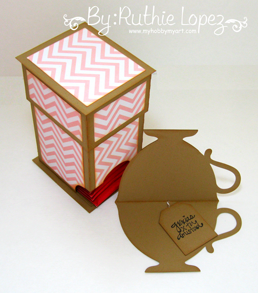 Mosipis - Chevron I - Tea bag dispenser - Tea cup card - Ruthie Lopez - My Hobby My Art 3