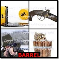 BARREL- 4 Pics 1 Word Answers 3 Letters