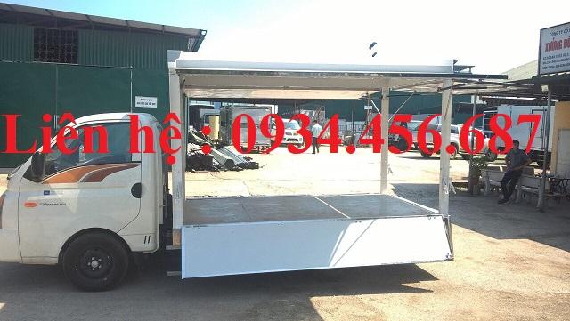 Xe tải Porter H150 thùng cánh dơi 1.5 tấn