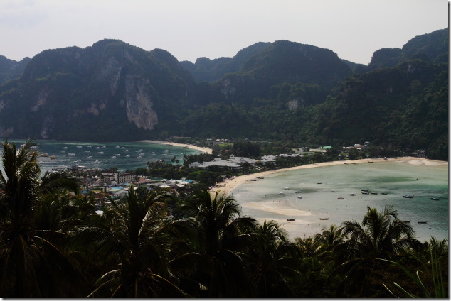 Lovely view of the Ton Sai and the Loh Dalum bays from Ko Phi Phi view point 2