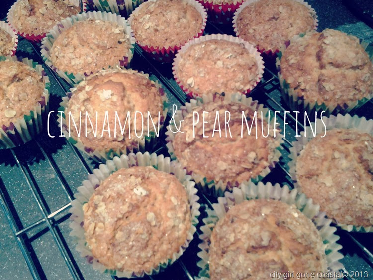 cinnamon and pear muffins