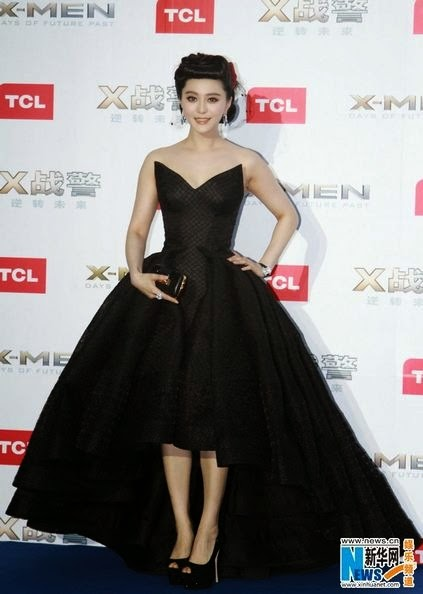Fan Bingbing attended the X-Men Days of Future Past premiere at Indigo Shopping Mall