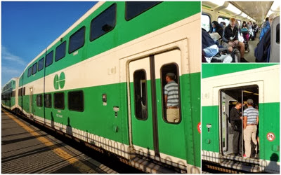 GO train collage