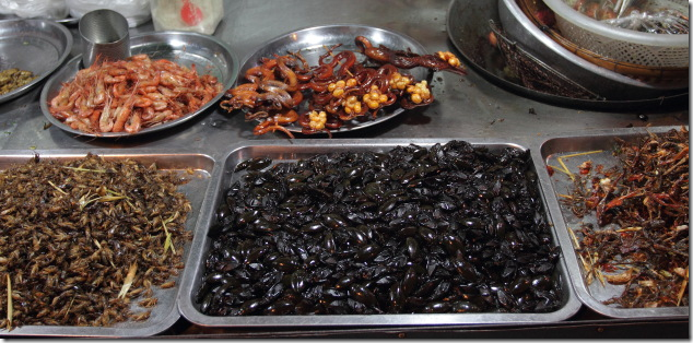 Insects galore at the markets of Phnom Penh, Cambodia