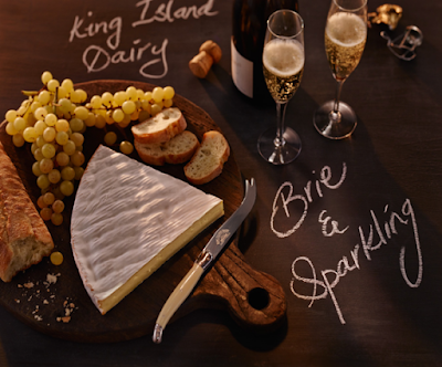 Welcome in Spring with a bottle of bubbly and one perfect Brie Our King