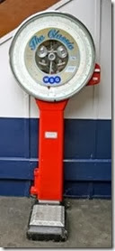 Red weighing machine