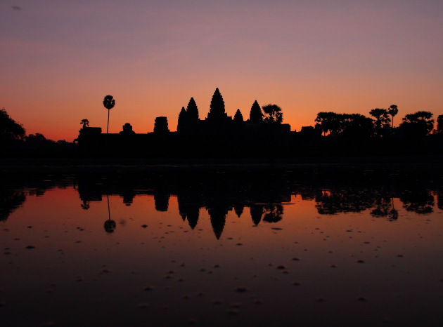 The famous Angkor Wat Sunrise, Cambodia