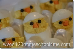 Farm Party Food Deviled Egg Chicks
