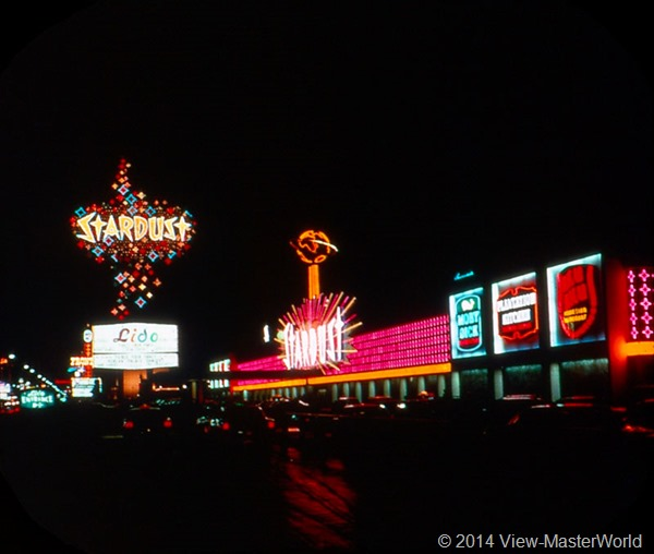 View-Master Las Vegas Nevada A159 Scene 2-7 Stardust Hotel at night