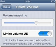 iPod Limite volume UE