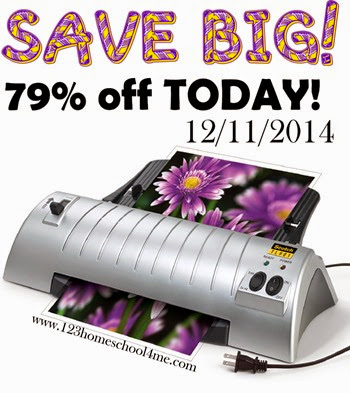 laminator deals - save 79% off my favorite laminator today! This is a compact, reliable laminator that has been going strong over 6 years!