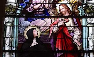 """Chúa nói với thánh nữ Alacoque rằng: """"Ta muốn một lễ được lập để kính Trái Tim Cực Trọng của Ta..."""""""