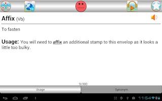 Screenshot of sTutor - GRE Vocab Lite