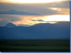 1213 Alberta Hwy 6 South Pincher Creek - view of sunset over the mountains from our hotel window