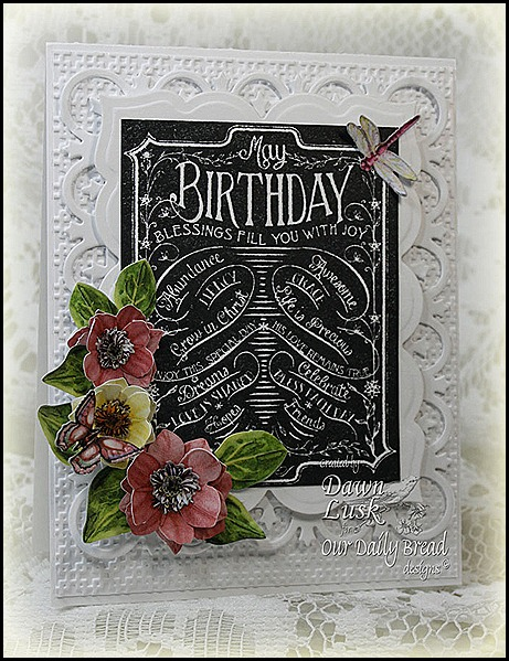Our Daily Bread designs, Chalkboard Birthday/Thanks, Flower Soft Summer Die Cut Paper Flowers