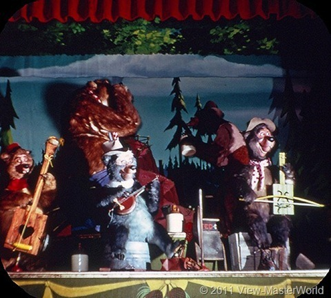 View-Master Frontierland (A176), Scene 1-7: Country Bear Band