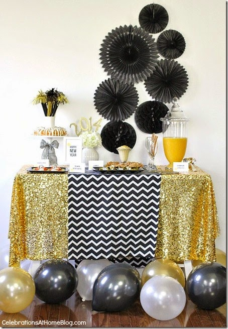 golden-glam-new-years-eve-party-food-table