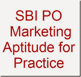 SBI PO Marketing Aptitude practice