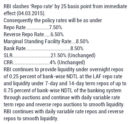 Repo (Repurchase) rate also known as the benchmark interest rate is the rate at which the RBI lends money to the commercial banks for a short-term (max. 90 days). When the repo rate increases, borrowing from RBI becomes more expensive. If RBI wants to make it more expensive for the banks to borrow money, it increases the repo rate similarly, if it wants to make it cheaper for banks to borrow Currency: Indian rupee (₹).