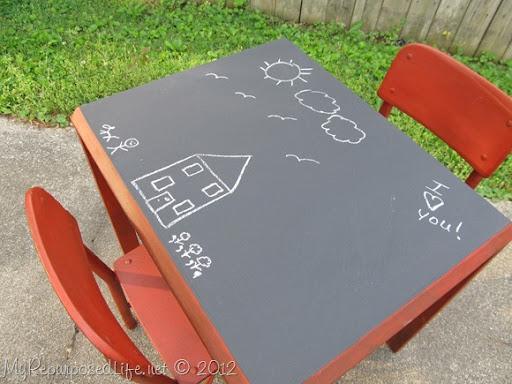 Kids Chalkboard Table Chairs (10)