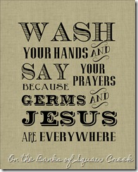 Wash your hands - gray