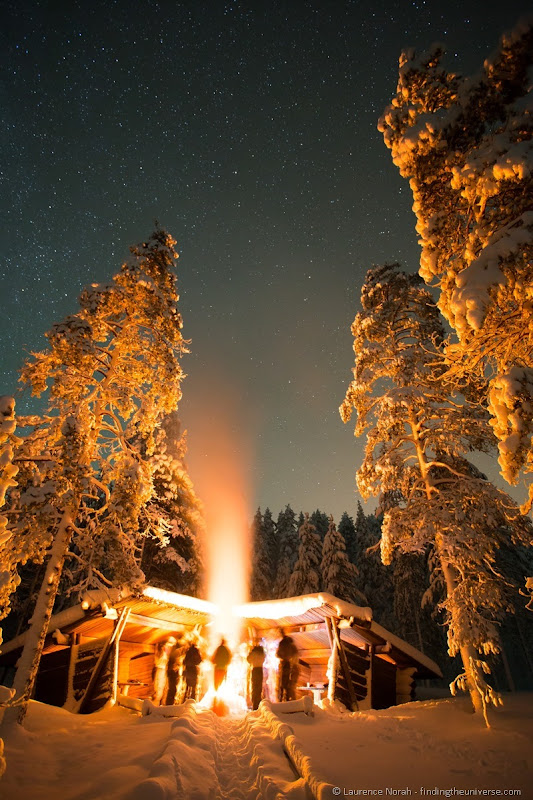 fire under the stars lapland finland iso syote northern lights safari