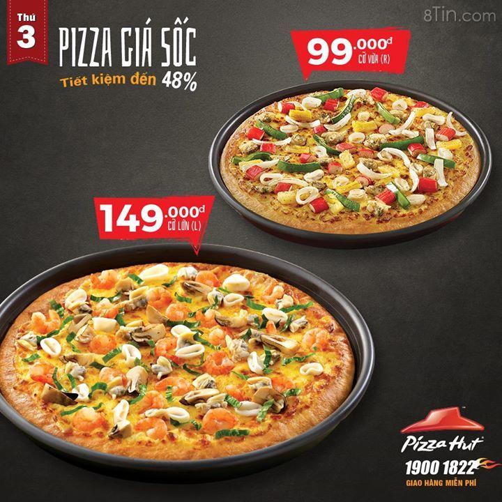 ƯU ĐÃI THỨ 3 HÀNG TUẦN CHO MUA MANG VỀ & GIAO HÀNG TẬN NƠI TỪ PIZZA HUT!