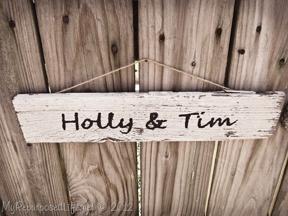 Picket Fence Wedding Sign