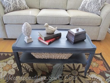 two tier coffee table makeover with ms mustard seed milk paint