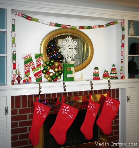 duck tape decorated mantel