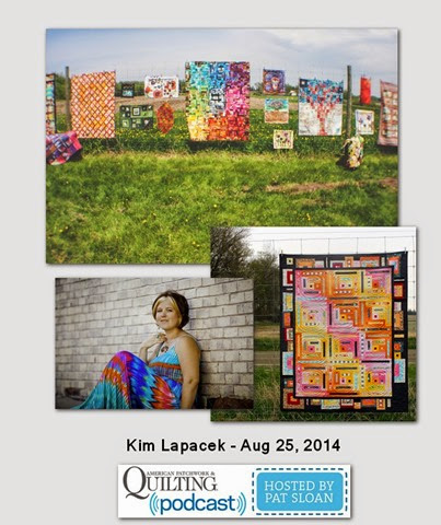 Pat Sloan American Patchwork and Quilting radio Kim Lapacek Aug 2014 guest