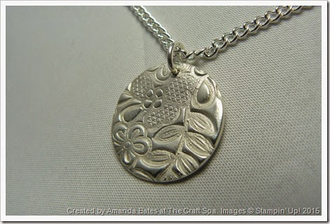 Something Lacy, Silver Clay Pendant, Amanda Bates, The Craft Spa 012