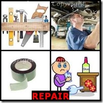 REPAIR- 4 Pics 1 Word Answers 3 Letters