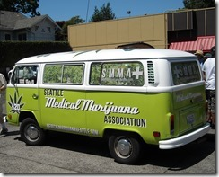 Medical marijuana van