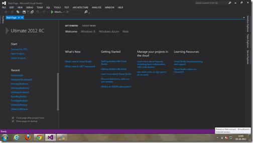 Dark Visual Studio theme like blend - A Visual Studio 2012 feature