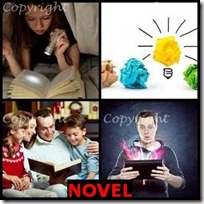 NOVEL- 4 Pics 1 Word Answers 3 Letters